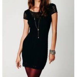 Free People Black Gypsy Lace Dress